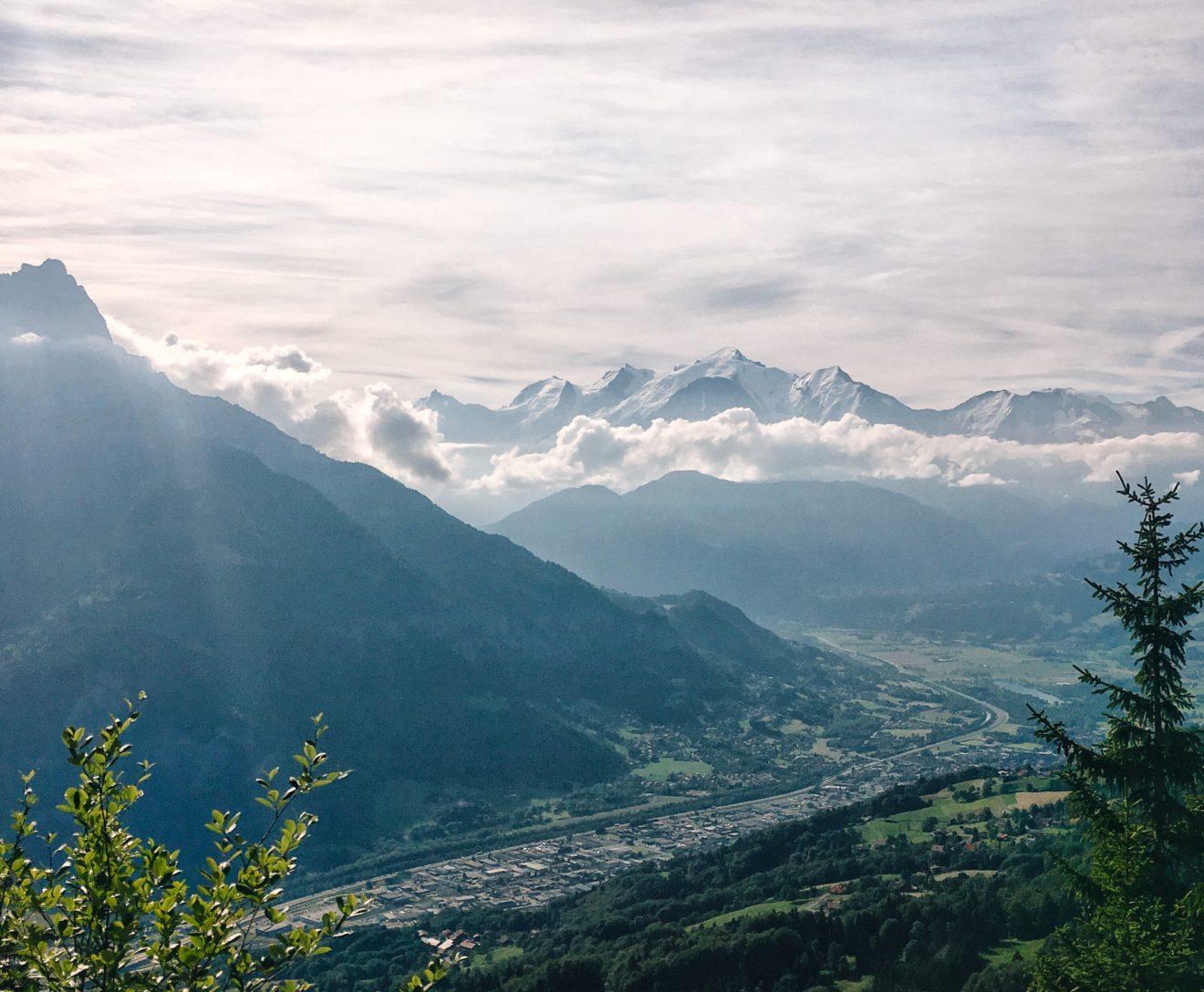 Couché de soleil sur le mont Blanc