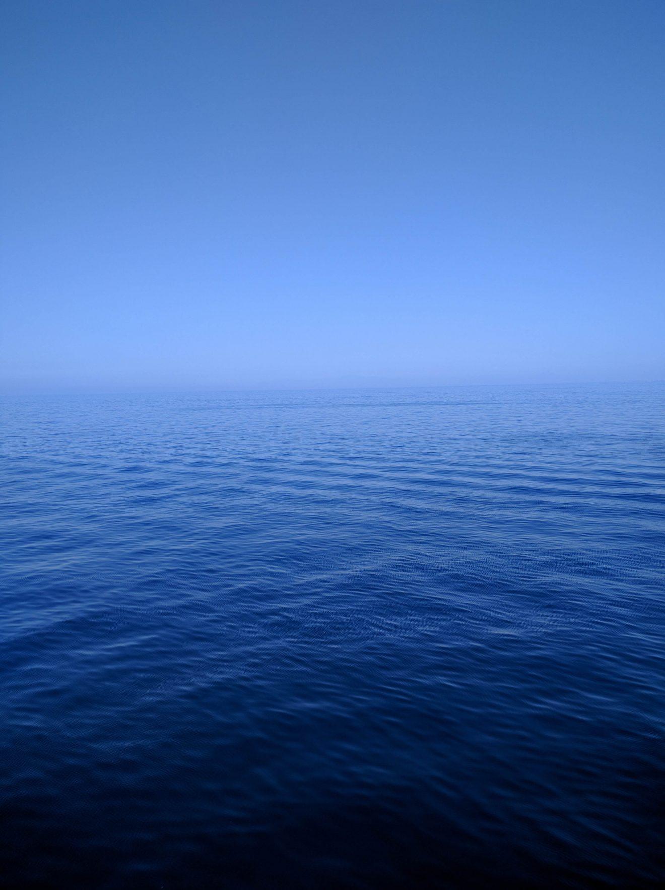 Nuances de bleu (mer / ciel) sur le trajet vers Positano
