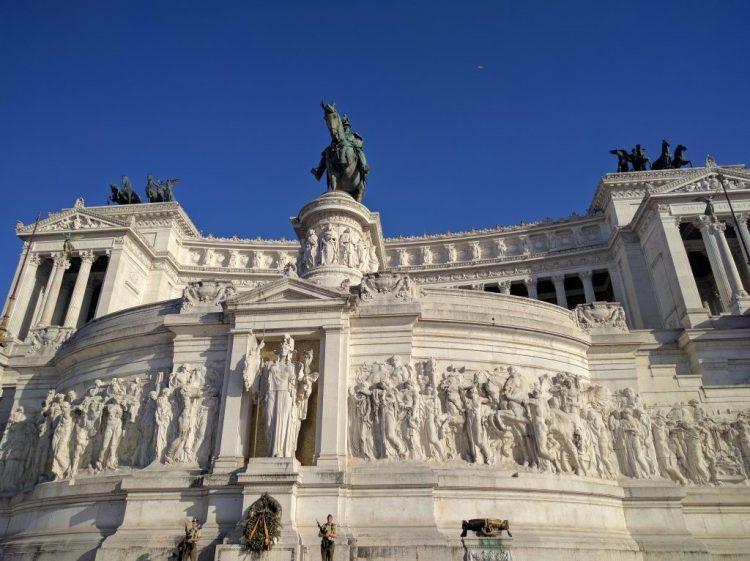 Vue du monument à Victor-Emmanuel II de Rome
