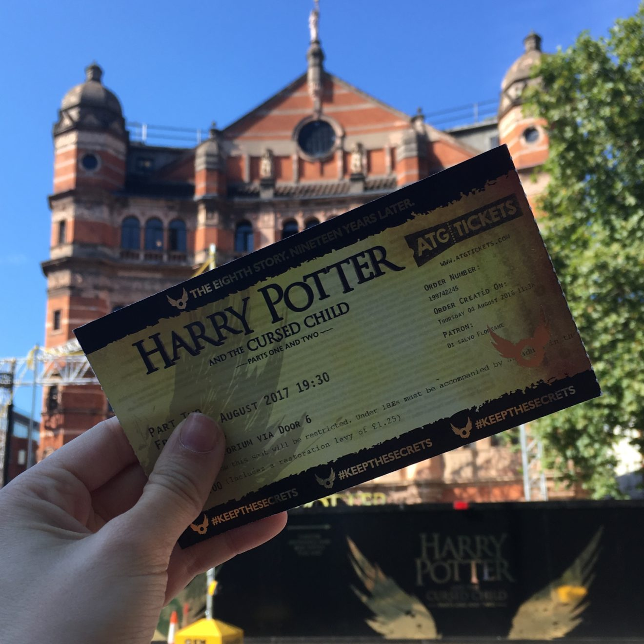 Billet Harry Potter and the cursed child