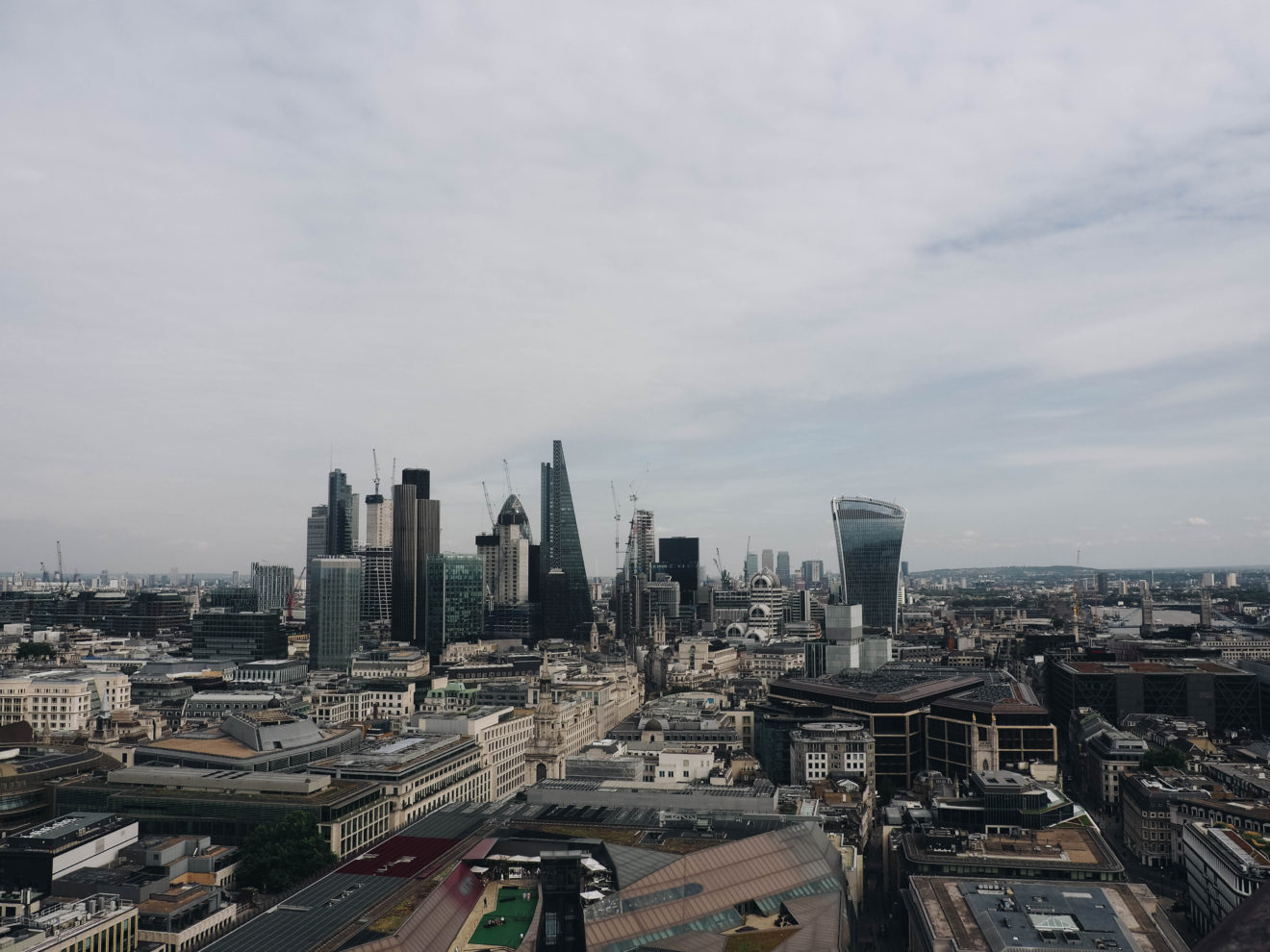 Vue du Financial District de Londres