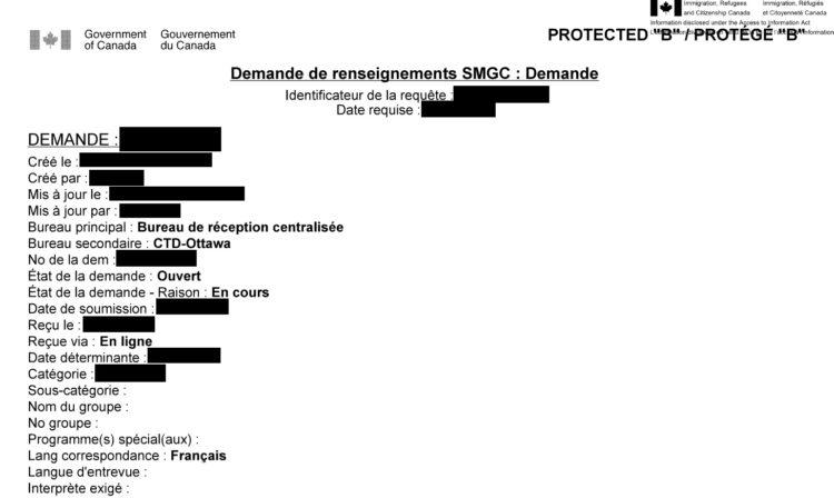 Notes SMGC - GCMS Canada Visa Résidence Permanente